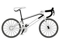 Corsa della siluetta della bicicletta Immagine Stock Libera da Diritti