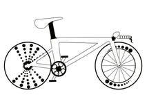 Corsa della siluetta della bicicletta Fotografia Stock