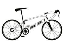 Corsa della siluetta della bicicletta Fotografia Stock Libera da Diritti