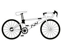 Corsa della siluetta della bicicletta Immagini Stock