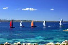 Corsa delle barche a vela Immagine Stock