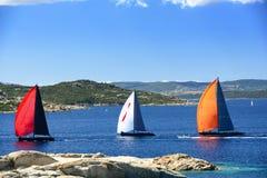 Corsa delle barche a vela Fotografie Stock