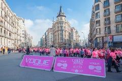 Corsa delle donne contro cancro al seno Immagine Stock Libera da Diritti