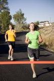 corsa delle due donne Fotografie Stock