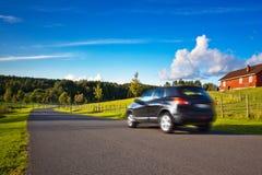 Corsa di automobile Fotografie Stock Libere da Diritti