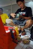 Corsa di automobile del giocattolo Fotografia Stock Libera da Diritti