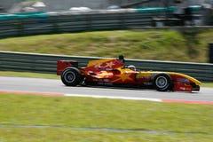 Corsa di automobile della Cina della squadra sulle piste immagini stock libere da diritti
