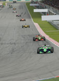 Corsa di automobile di Motorsport Fotografia Stock