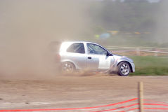 Corsa di automobile di raduno Fotografia Stock