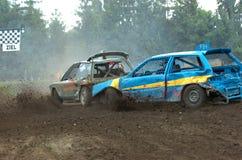 Corsa di automobile di riserva Fotografie Stock