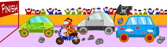 Corsa di automobile divertente Fotografie Stock Libere da Diritti