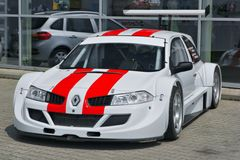 Corsa di automobile Renault Megane Trophy fotografie stock libere da diritti
