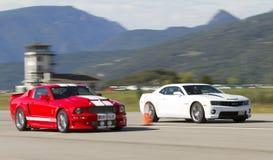 Corsa di automobili americana Fotografia Stock Libera da Diritti