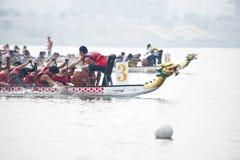 Corsa di barca del drago fotografie stock