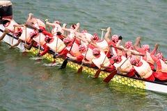 Corsa di barca del drago Immagini Stock