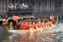 Corsa di barca del drago in Cina Fotografia Stock Libera da Diritti