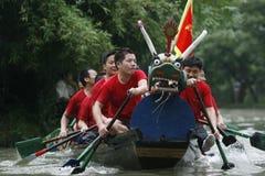 Corsa di barca del drago in Cina Fotografie Stock
