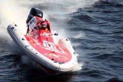 Corsa di barca di velocità. Fotografie Stock Libere da Diritti