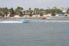 Corsa di barca di velocità di Long Beach fotografia stock libera da diritti