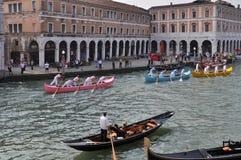 Corsa di barca a Venezia Immagini Stock