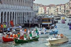 Corsa di barca a Venezia Fotografia Stock