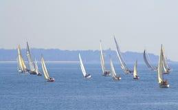 Corsa di barche tallonante Immagini Stock Libere da Diritti