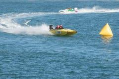 Corsa di barche di velocità Fotografia Stock Libera da Diritti