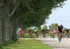 Corsa di bicicletta Immagine Stock Libera da Diritti