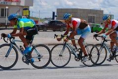 Corsa di bicicletta Fotografie Stock