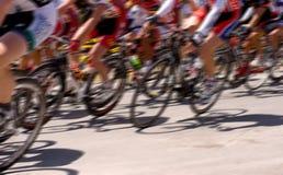 Corsa di bicicletta Fotografie Stock Libere da Diritti