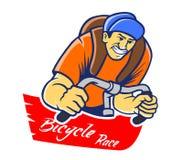 Corsa di bicicletta illustrazione vettoriale