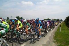 Corsa di bicicletta, gruppo Fotografia Stock