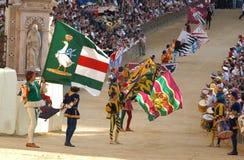 Corsa di cavallo di palio di Siena Fotografia Stock Libera da Diritti