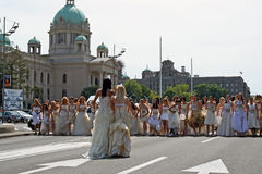Corsa di cerimonia nuziale Fotografia Stock