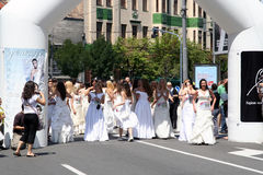 Corsa di cerimonia nuziale Fotografie Stock