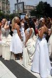 Corsa di cerimonia nuziale Immagini Stock