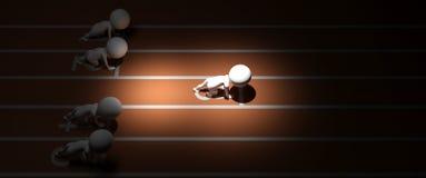 corsa di esecuzione dell'essere umano 3d con i vantaggi aggiunti Immagine Stock Libera da Diritti