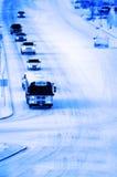 Corsa di inverno Fotografie Stock Libere da Diritti