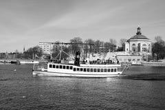 Corsa di inverno in barca Immagine Stock