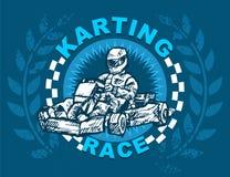 Corsa di Karting Immagini Stock Libere da Diritti