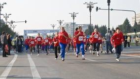 Corsa di maratona dei bambini Immagini Stock