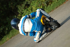 Corsa di Minibike Fotografie Stock