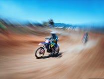 Corsa di motocross Fotografia Stock Libera da Diritti
