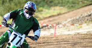 Corsa di MotoX Fotografia Stock Libera da Diritti