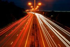 Corsa di notte Fotografia Stock Libera da Diritti