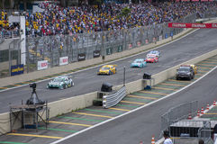 Corsa di Porsche di formula Fotografie Stock