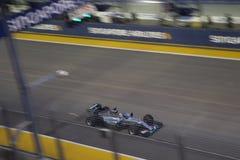 Corsa di qualificazione di formula 1 di Singapore Fotografie Stock