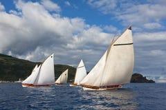 Corsa di regatta della barca di caccia alla balena Fotografie Stock