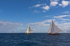 Corsa di regatta della barca di caccia alla balena Fotografia Stock
