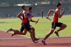 Corsa di relè Fotografia Stock